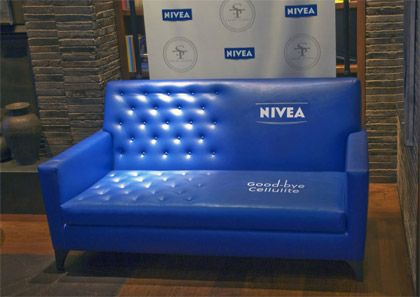 This clever interactive sofa from Nivea gives consumers a chance to feel the effects with out buying the product.