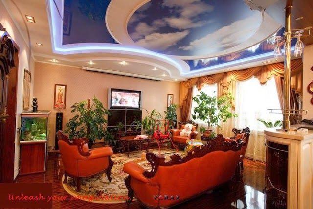 sky gypsum ceiling designs for living room
