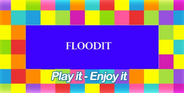 Floot it Android Game With Admob . DESCRIPTIONFill all the pixels with one color. You start from the top-left corner and move deeper changing colors. You can select one of the colored buttons at the bottom of the screen, and your flood area will grow to include that color. As you keep selecting colors, your flood areas grow, and