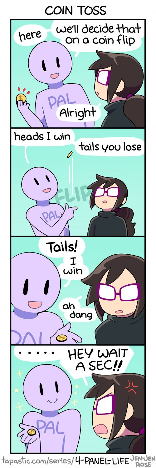 4-Panel Life :: COIN TOSS | Tapastic Comics