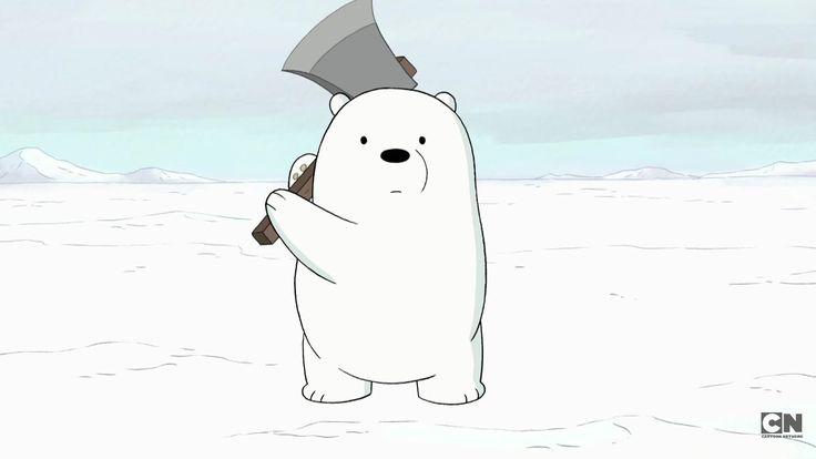 Training with ice bear