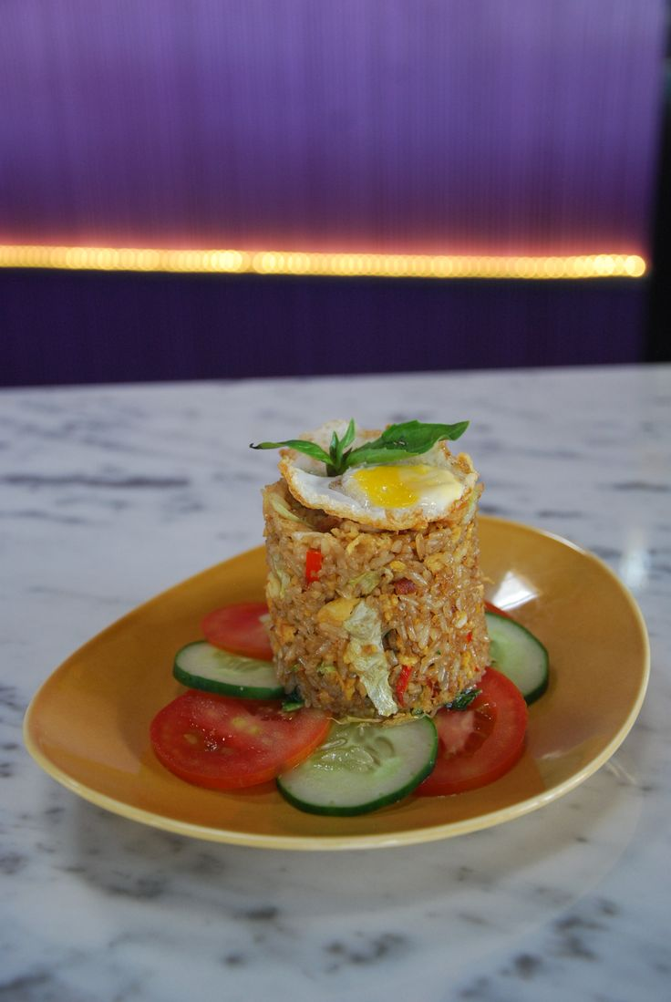 """Nasi Goreng"" Indonesian Traditional Stirfried Rice with Chcken"