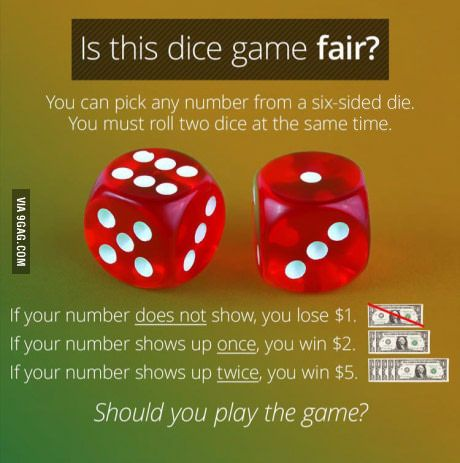 Who wants to play this fair dice game?