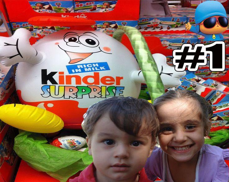 2 Çocuk 4 Sürpriz Yumurta Açıyor ! Bakalım içinden Hangi Oyuncaklar Çıka...