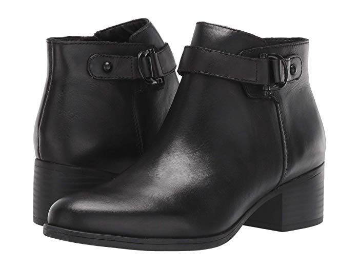 Womens boots black leather, Boots