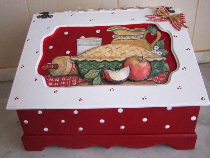 zülüşün işleri: Ahşap boyama ekmek kutusu...