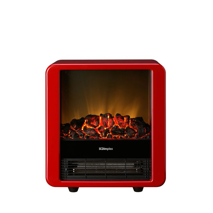 This 32cm-wide Mini heater in colour Red is as portable as it is stylish. Its 1.5kW heat output and realistic Optiflame coal effect will prove to you that good things come in small packages as well.