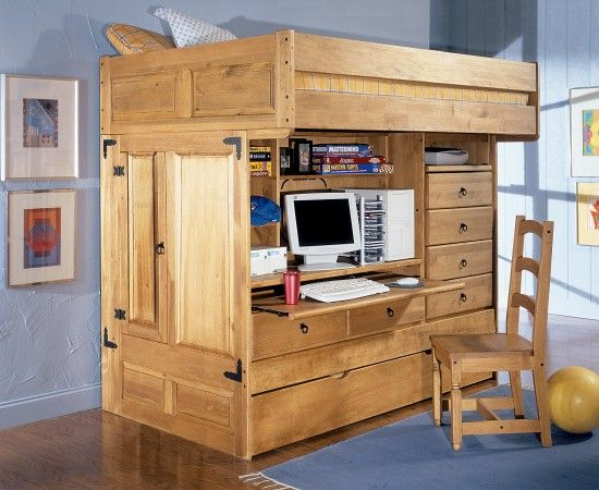 Bunk Bed Bedroom Suite Rustica Twin All In One Youth