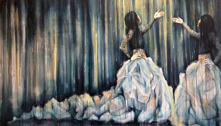 A Thousand Tears: Medium: oil on canvas Size: 90 x 155 cm Lisa Lee ...