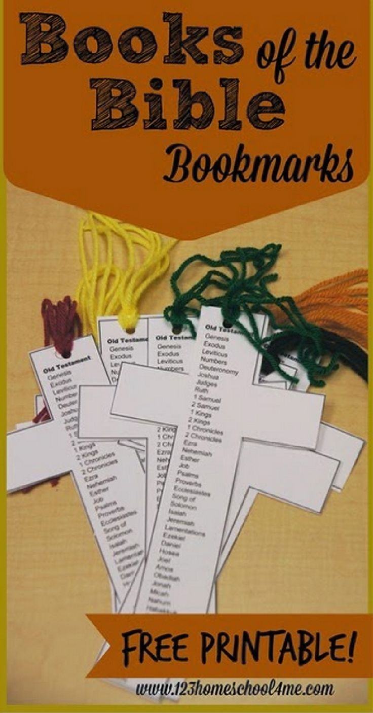 FREE Books of the Bible Bookmark - free printable that is great for a bible craft, Sunday School lessons, and so much more for 1st grade, 2nd grade, 3rd grade, and more!