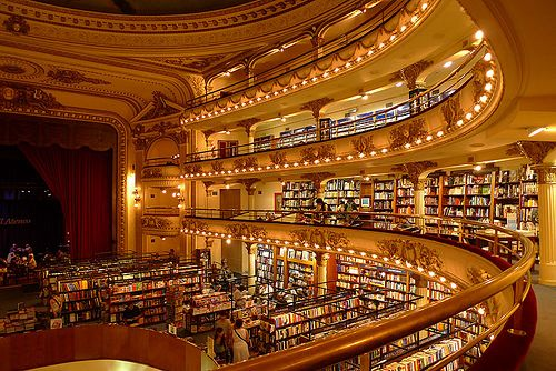 Librería El Ateneo (ex Teatro Grand Splendid) in Buenos Aires, Argentina; photo by Nick Graham (chenick via Flickr)