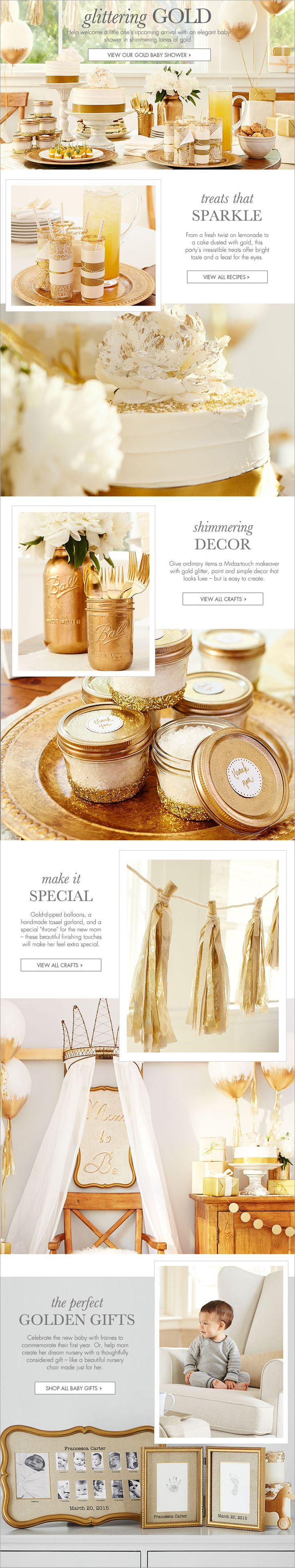 Gold Baby Shower | Pottery Barn Kids (A GOLD BABY SHOWER) Nice!!