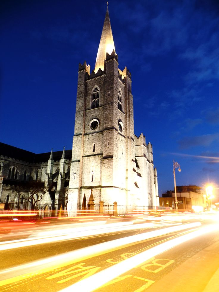 St. Patrick at night - Dublin (Ireland)