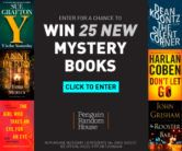 25 Mystery Books Giveaway  Open to: United States Ending on: 10/31/2017 Enter for a chance to win 25 brand-new mysteries. Either you tell us which books you want or we can help curate based on your past favorites. Enter this Giveaway at Penguin Random House  Enter the 25 Mystery Books Giveaway on Giveaway Promote.