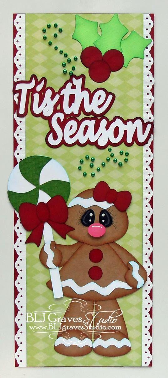 Premade Paper Piecing Border for Scrapbook Page Christmas Gingerbread Girl Elite4U