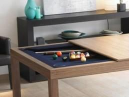 Your pool table, your dining table...hydraulic lifts between the two. AMAZING!