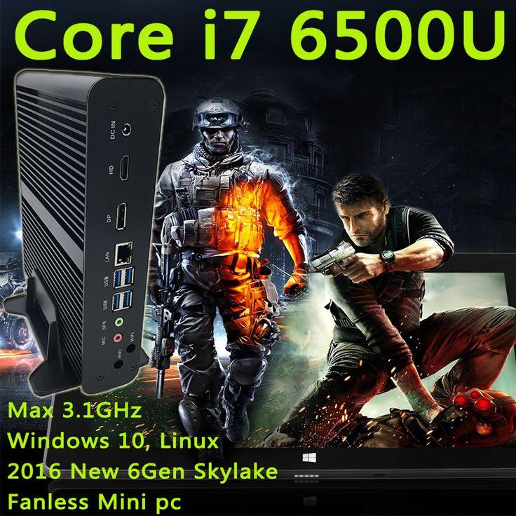Micro Computer HTPC Windows10, Linux 2016 New 6Gen mini computer Intel HD Graphics 520 Mini PC Core i7 6600U 6500U Max 3.1GHz