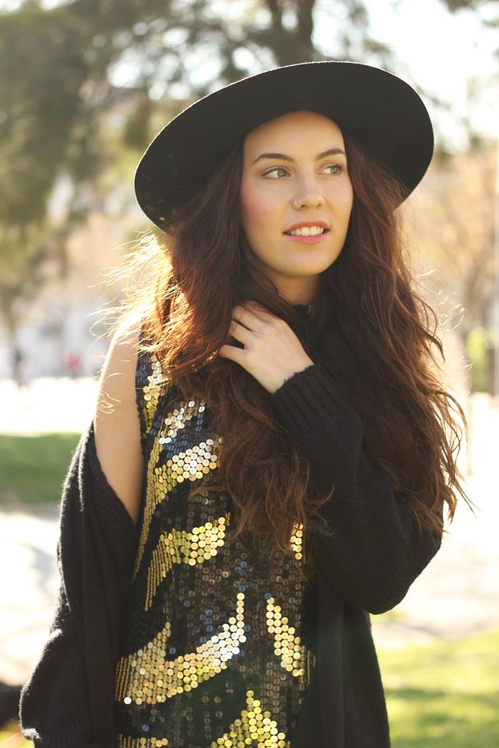 WST Black and Gold Sequin Dress on Stylegenda