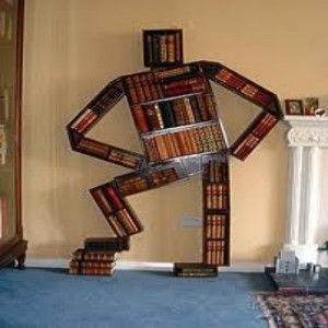 Figure Bookcase for an Office with Attitude.