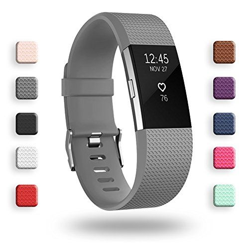 Poy Replacement Bands Compatible For Fitbit Charge 2 Classic Edition Adjustable Sport Wristbands Small Gray Https T Co In 2020 Fitbit Charge Fitbit Fitbit Alta Hr