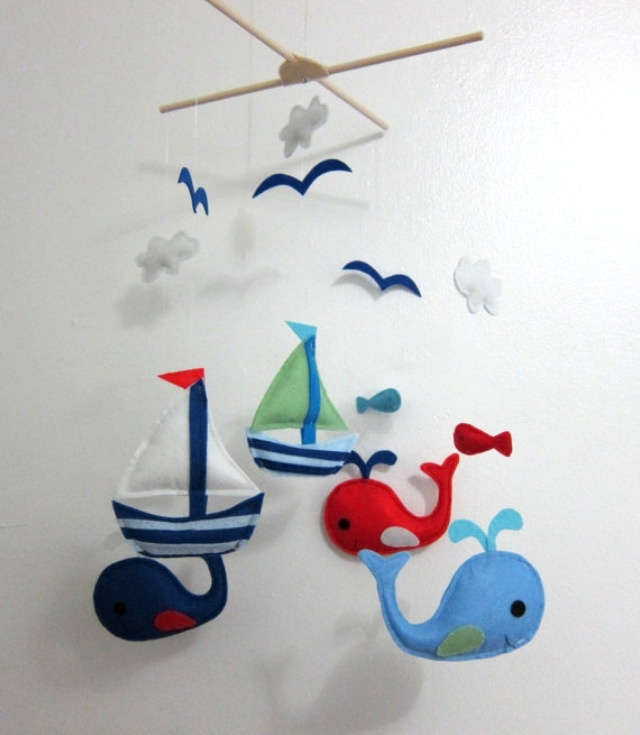 Nautical Mobile Baby Boy Nautical Nursery Pinterest