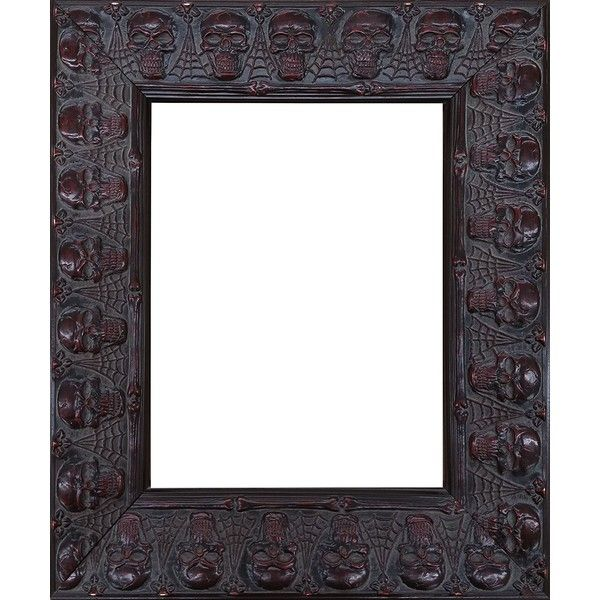 Embossed Skulls and Spiderwebs Goth Halloween Picture Frame (11x14... ($40) ❤ liked on Polyvore featuring home, home decor, frames, halloween home decor, goth home decor, skull home accessories, skull head home decor and skull home decor