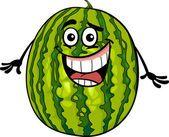 Ilustração de cartoon engraçado melancia fruta — Ilustração de Stock #26457083