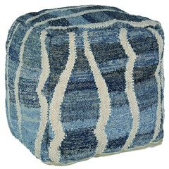 Add our Denim & Wool Pouffe to your living room or seating areas to create instant comfort and style. Crafted from blue and white recycled denim and wool, these pouffes are great for additional seating or as a footstool. Pair with our denim scatter cushions or rug to add instant style in any room.