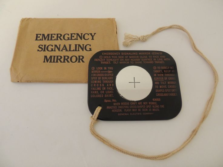 Emergency Signaling Mirror, WW2 pilot's survival kit - Private Collection