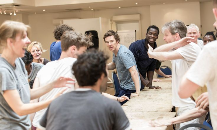The outrageous fortune of Benedict Cumberbatch. In rehearsal for Hamlet July 2015.