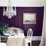 Purple Living Room Paint Design Ideas