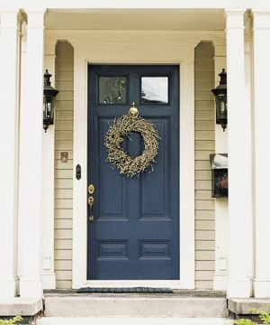 A nautical soothing blue for our house.  Apparently it brings abundance and peace to a home.  PERFECT.  #bluefrontdoor