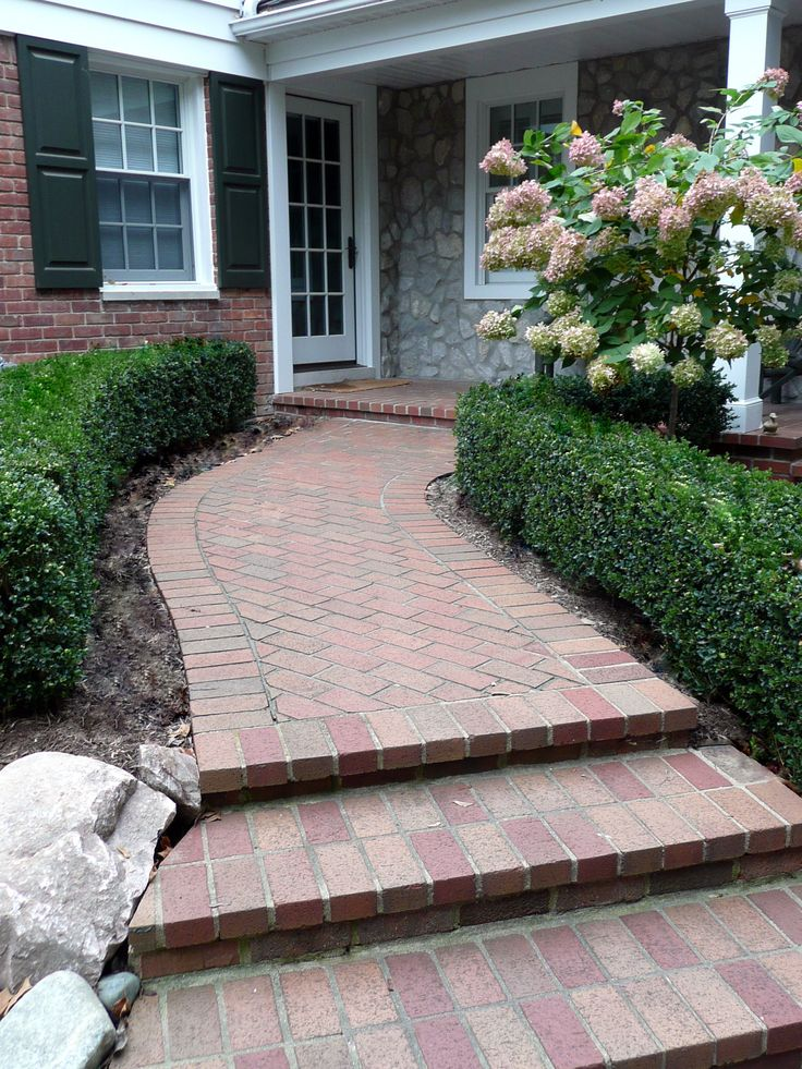 Brick Paver Front Porch And Walkway Porches And Walks