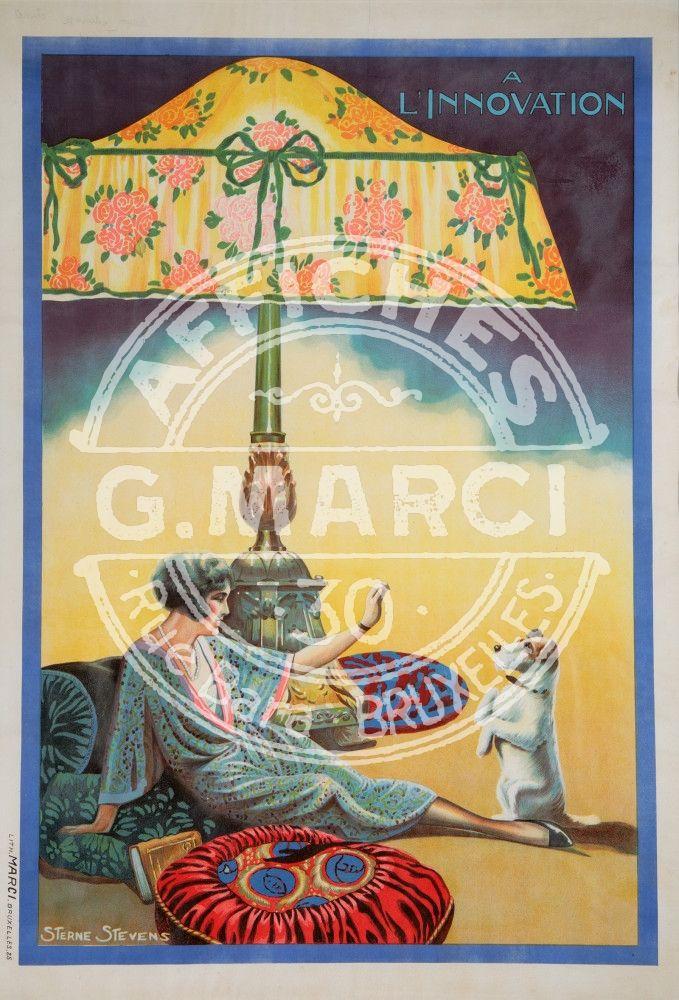Sterne Stevens Innovation vintage posters. Imprimée à l'imprmerie Marci Bruxelles. 1925 Belgique
