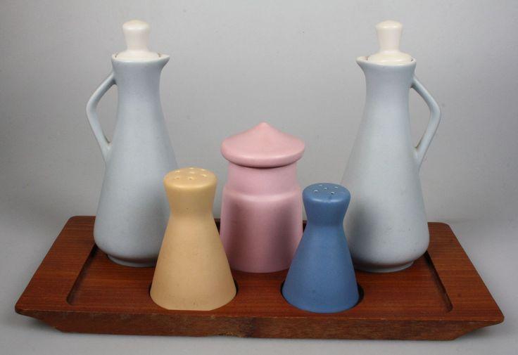 Flora Gouda 1960's condiment set