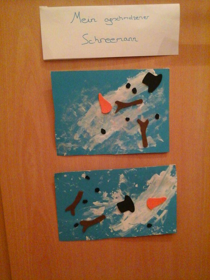 Alter: ab 1,5 Jahren  Besonders gefördert: Feinmotorik        Die Idee für diese geschmolzenen Schneemänner habe ich vor kurzem bei Pinteres… – ilka