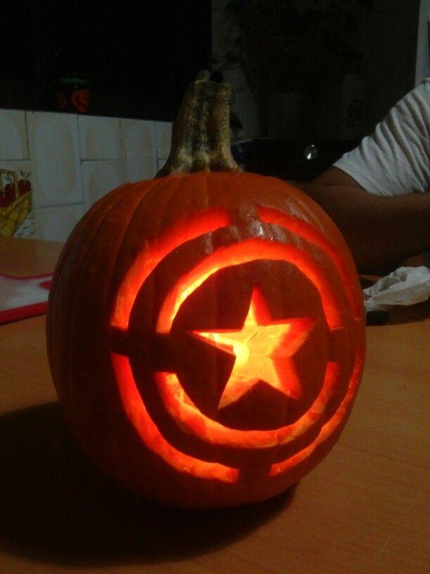 Captain america pumpkin pumpkins pinterest