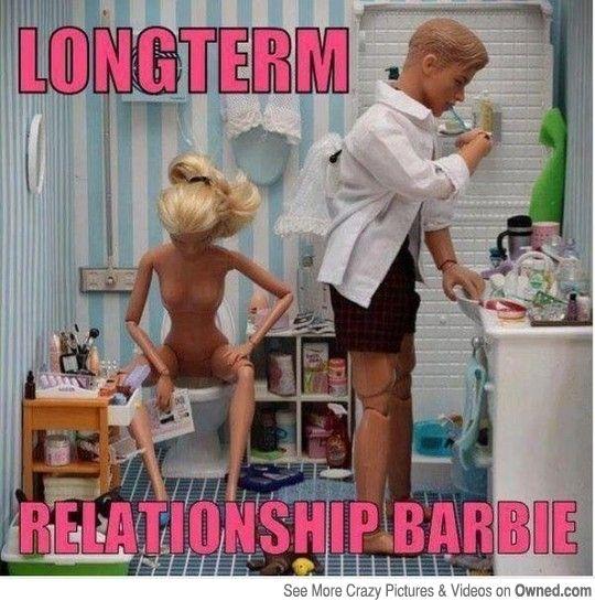 Long-term relationship Barbie...