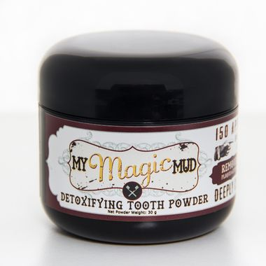 My Magic Mud: Made with Activated Coconut Shell Charcoal and Bentonite Clay plus other natural ingredients.