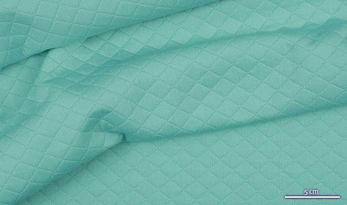 Szerokość: ok. 150 cm Skład: 95% poliester; 5% elastan Gramatura: ok. 450 gram / metr bieżący dzianiny