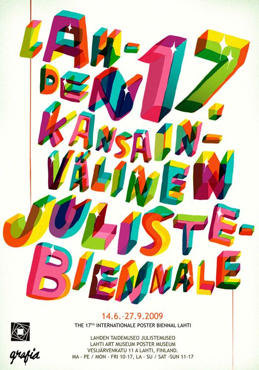 A poster proposal for Lahti Poster Biennale by Sami Viljanto (http://grandedeluxe.com)