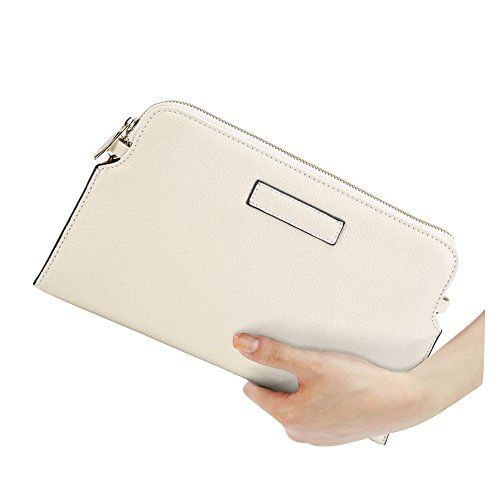 E-Clover Fashion Clutch Purse Crossbody Shoulder Bag Women's Wristlet Wallet (Beige)