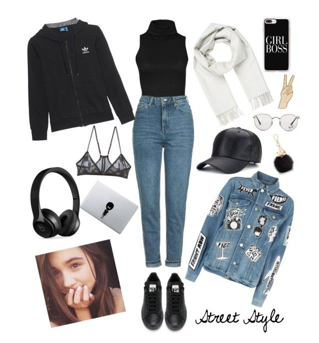 """Rowan Blanchard😍😘"" by evaskar on Polyvore featuring Topshop, adidas, Frame, adidas Originals, Brioni, Lucky Brand, Furla, Only Hearts, Beats by Dr. Dre and Ray-Ban"
