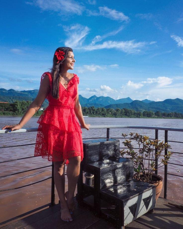 Bonnie Rakhit style traveller luang prabang temple and royal palace Laos boat