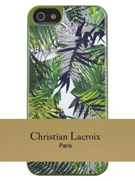 """Das Smartphone Case """"Green"""" (für iPhone 5/5s) aus der """"Eden Roc""""-Kollektion von Modeschöpfer Christian Lacroix überzeugt mit exotischem Motiv"""