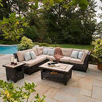 Delightful Avondale 6 Piece Sectional Seating Set With Premium Sunbrella® Fabric   Samu0027s  Club $1699