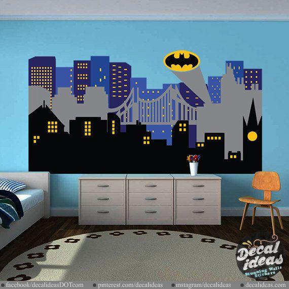 City Skyline Decal  Superhero City Skyline wall by StunningWalls
