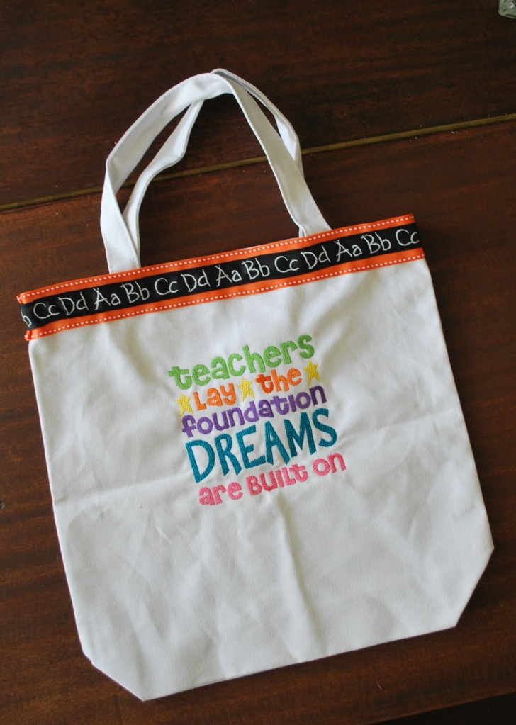 Teacher Appreciation End of Year Gift Tote