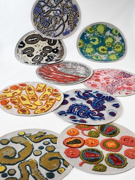 Bev Hisey's Dirty Dishes carpets // photo Donna Griffith