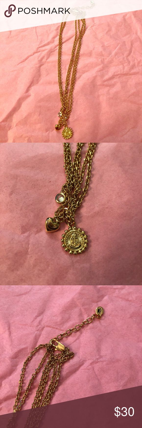Juicy Couture necklace Never been worn. Layered chain in gold Juicy Couture Jewelry Necklaces